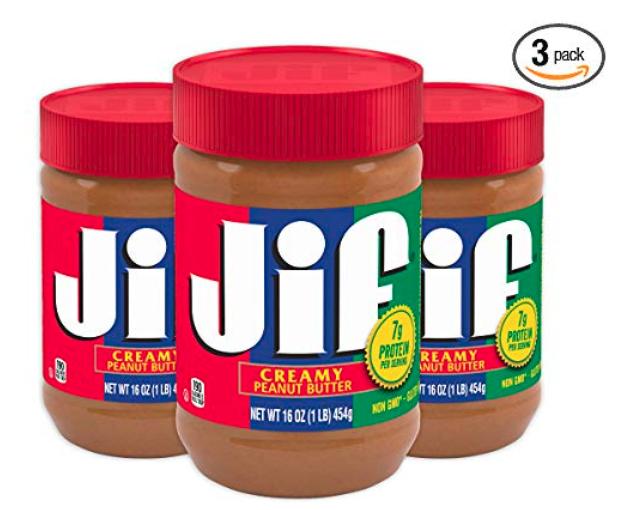 3-Pk 16oz Jif Creamy Peanut Butter $6.33 5% or $5.66 15% w/ S&S + Free S&H