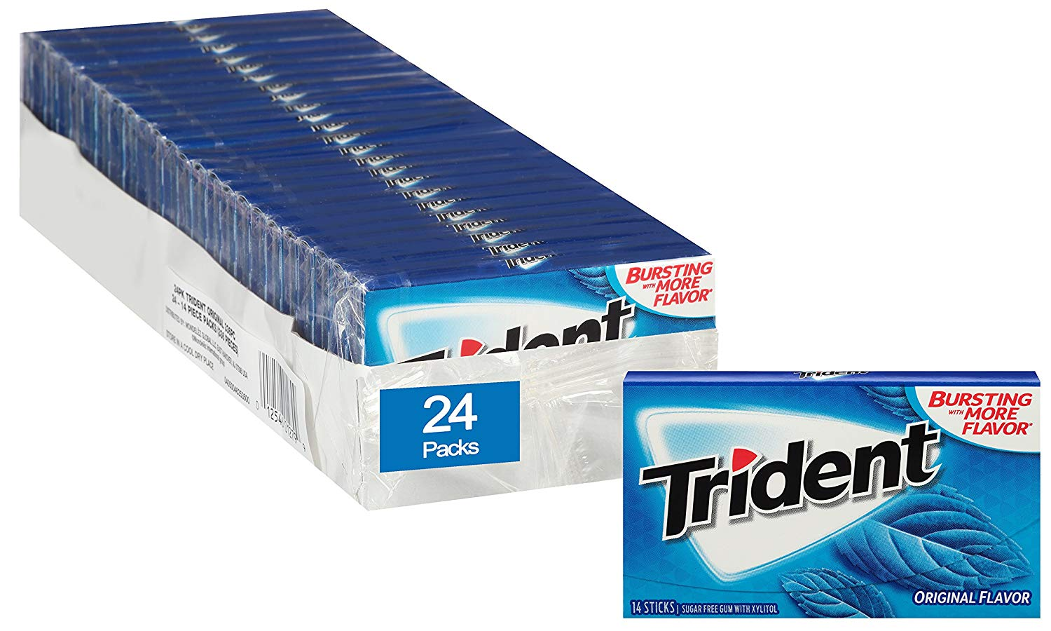 24-Pack of 14-Piece Trident Sugar Free Gum (Original) $12.42 5% or $10.75 15% & MORE AC w/s&s