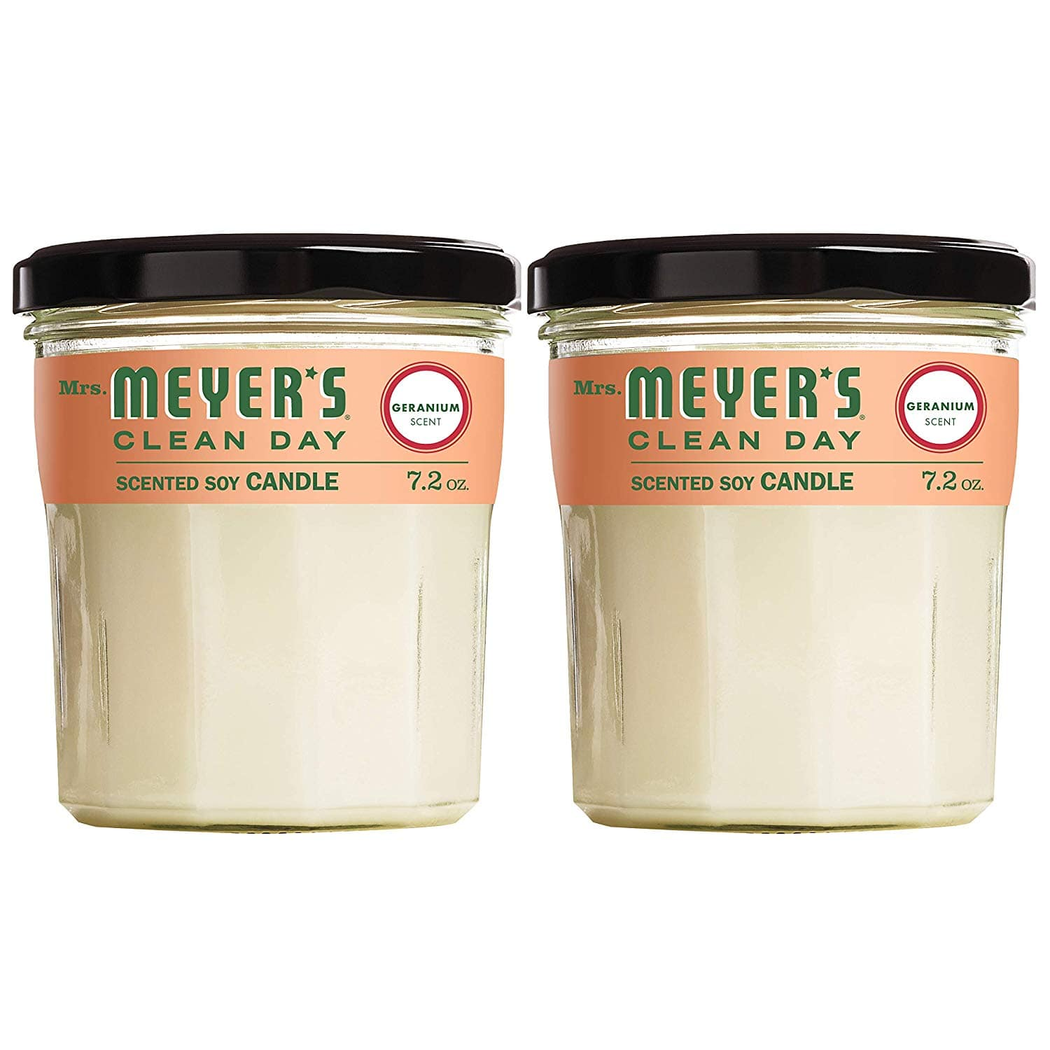 2-Pack Mrs. Meyers Clean Day Scented Soy Candle (Geranium or Lemon Verbana) Large, 7.2 Ounce From $11.01 5% or $9.54 15% & More AC w/s&s