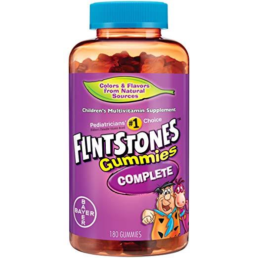 180-Count Flintstones Complete Multivitamin (Regular or Sour) Gummies $7.94 5% or $4.27 w/30% Everyday
