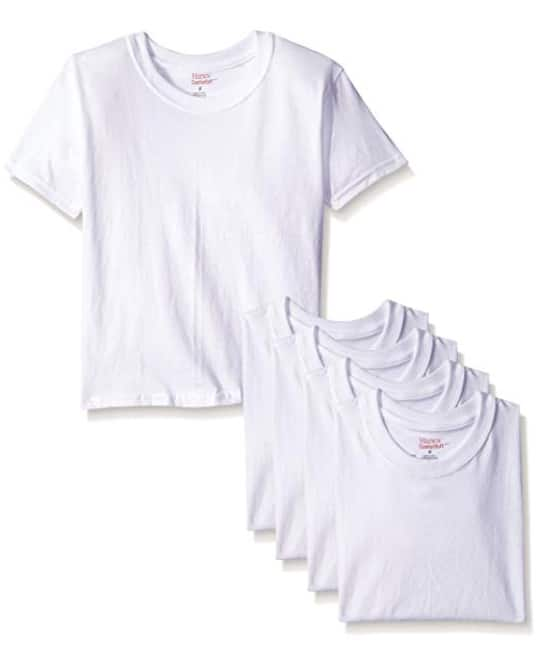 5-Pack Hanes Boys' Toddler Crew T-Shirts Size: 2/3 or 4 - $5.00 - Amazon