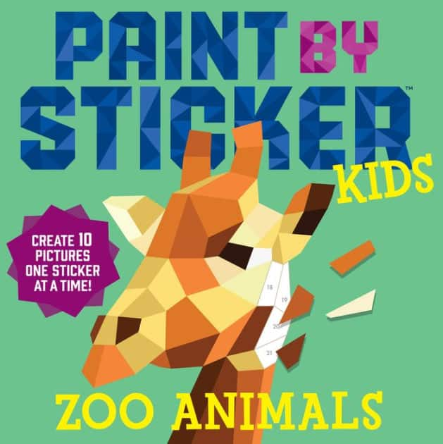 Paint by Sticker Kids: Zoo Animals: Create 10 Pictures One Sticker at a Time! $5.20 - Walmart / Amazon