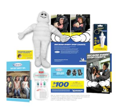 FREE Michelin Man Plush Doll, Tire Pressure Gauge & More (Complete Online Child's Safety Class)