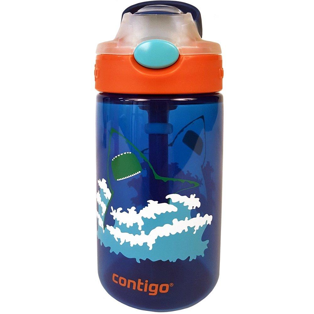 Contigo 14oz. AUTOSPOUT Straw Gizmo Flip Kids Water Bottle (Blue) $5.60 & MORE - Amazon