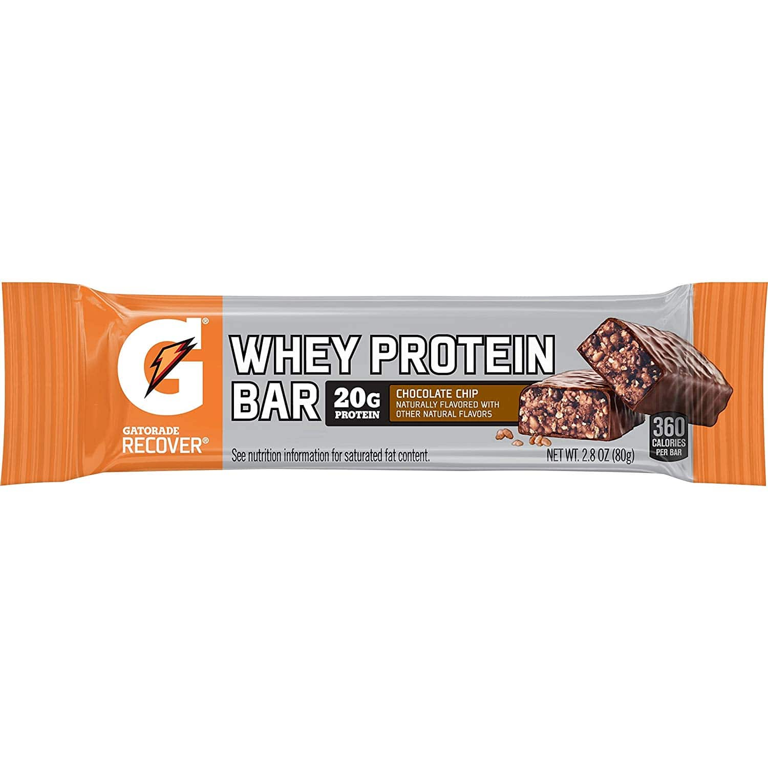 12-Count Gatorade Whey Protein Recover Bars (Chocolate Chip) 2.8 ounce bars $10.73 5% or $9.60 15% w/s&s