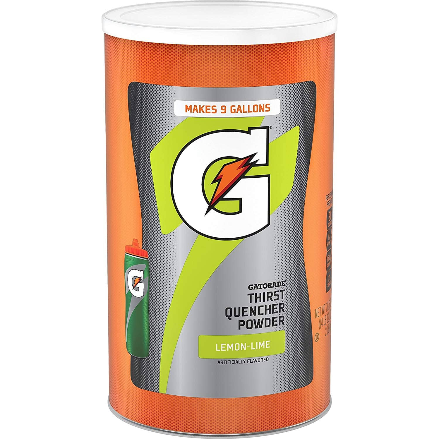 76.5oz. Gatorade Thirst Quencher Powder (Lemon Lime or Frost Glacier Freeze) $10.19 5% or $8.99 15% AC w/s&s
