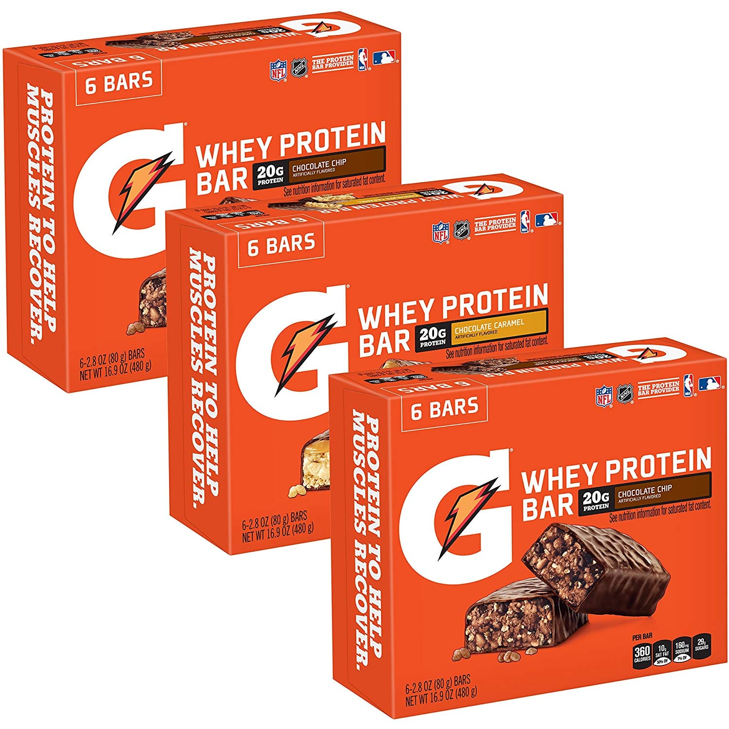 18-Count Gatorade Whey Protein Bars (Variety Pack) $17.29 5% or $14.98 15% AC w/s&s