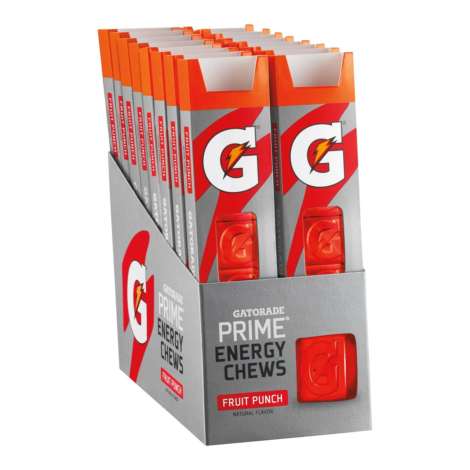 16-Ct. Gatorade Prime Energy Chews (Fruit Punch or Cool Blue) $11.88 5% or $10.29 15% AC w/s&s