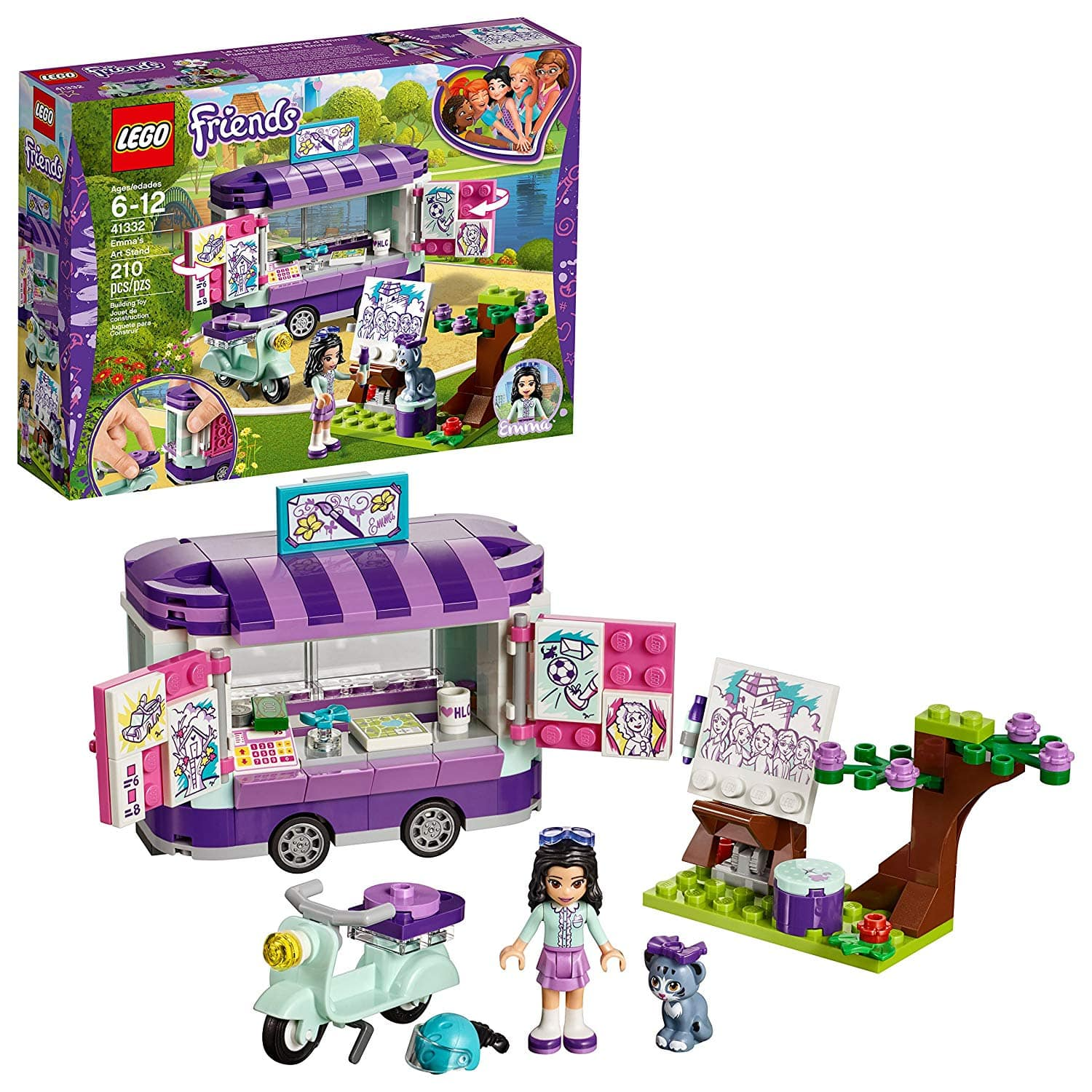 LEGO Friends Emma's Art Stand (41332) Building Set $11.99 - Walmart / Amazon