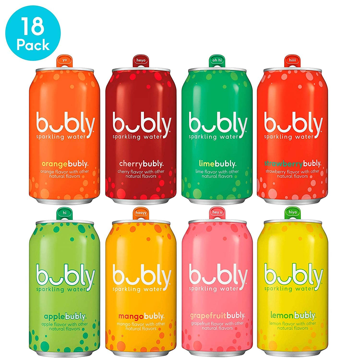 18-Count bubly Sparkling Water, 8 Flavor Variety Pack $7.69 5% or $6.59 15% & More AC w/s&s