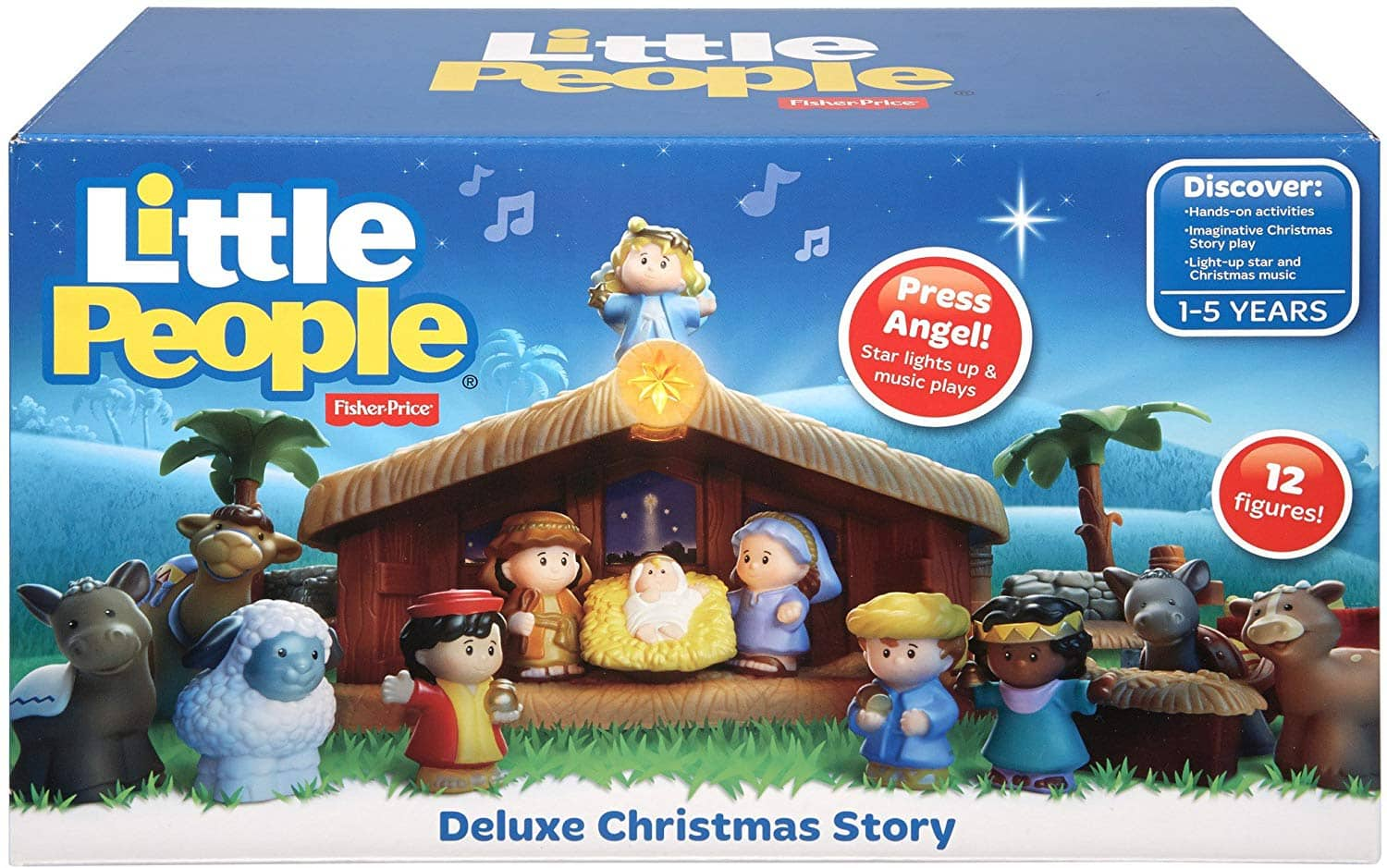 Fisher Price Little People Deluxe Christmas Story Nativity Set 21 78