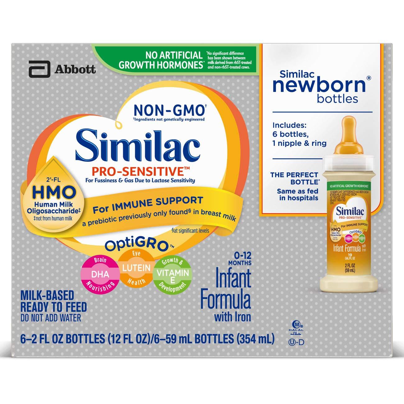 48-Count 2oz Similac Pro-Sensitive Infant Formula w/Iron $29.63 5% or $24.24 15% AC w/s&s + Free Shipping