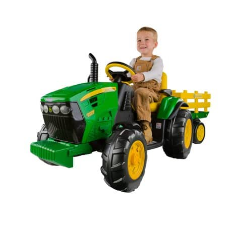 John Deere 12-Volt Battery Powered Ride On Ground Force Tractor with Trailer  $199 - Walmart / Amazon
