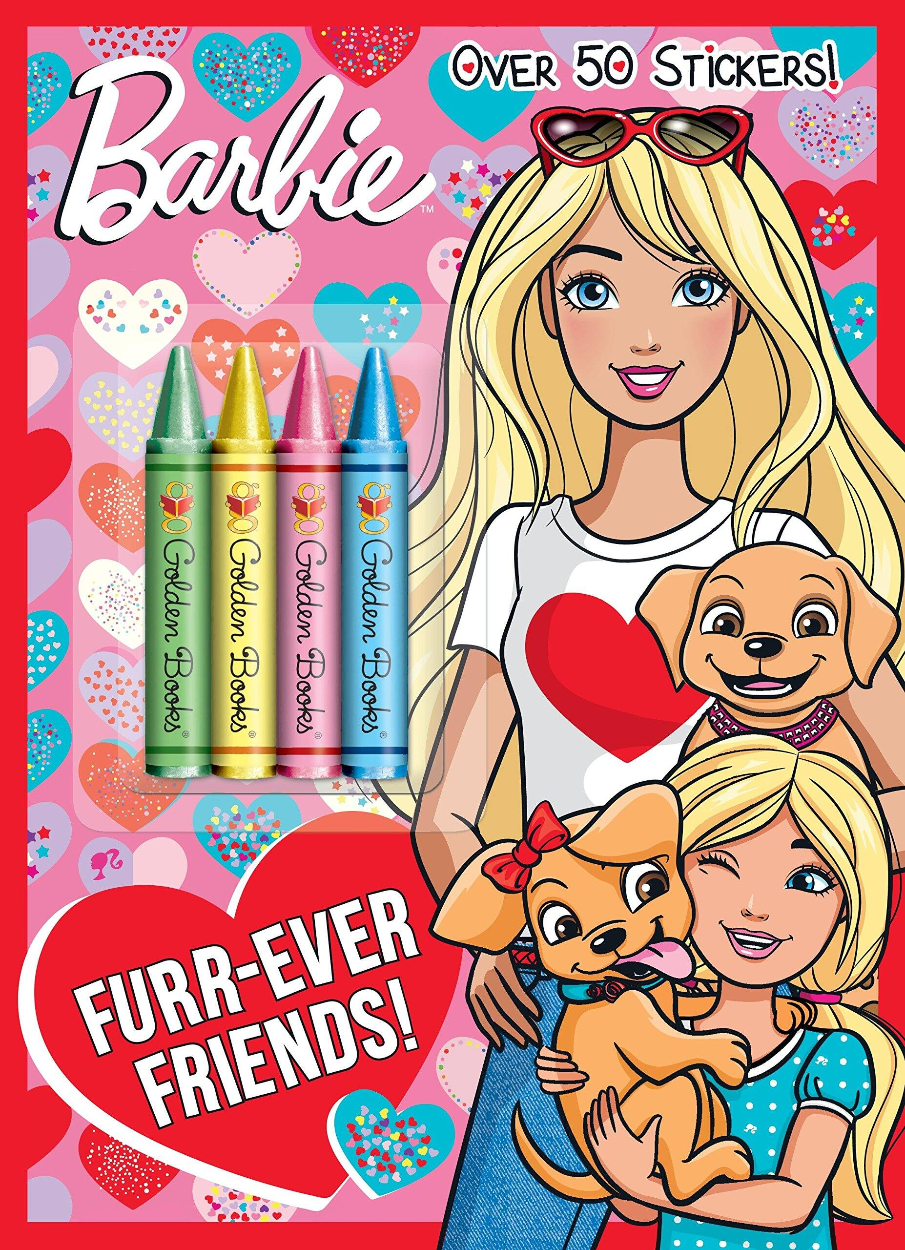 Barbie Furr Ever Friends Coloring Book Slickdeals Net