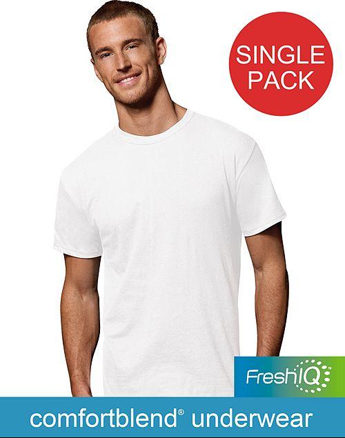 Hanes FreshIQ Men's ComfortBlend Crewneck Shirt (Small or Med.) $2.98 +Free S/H