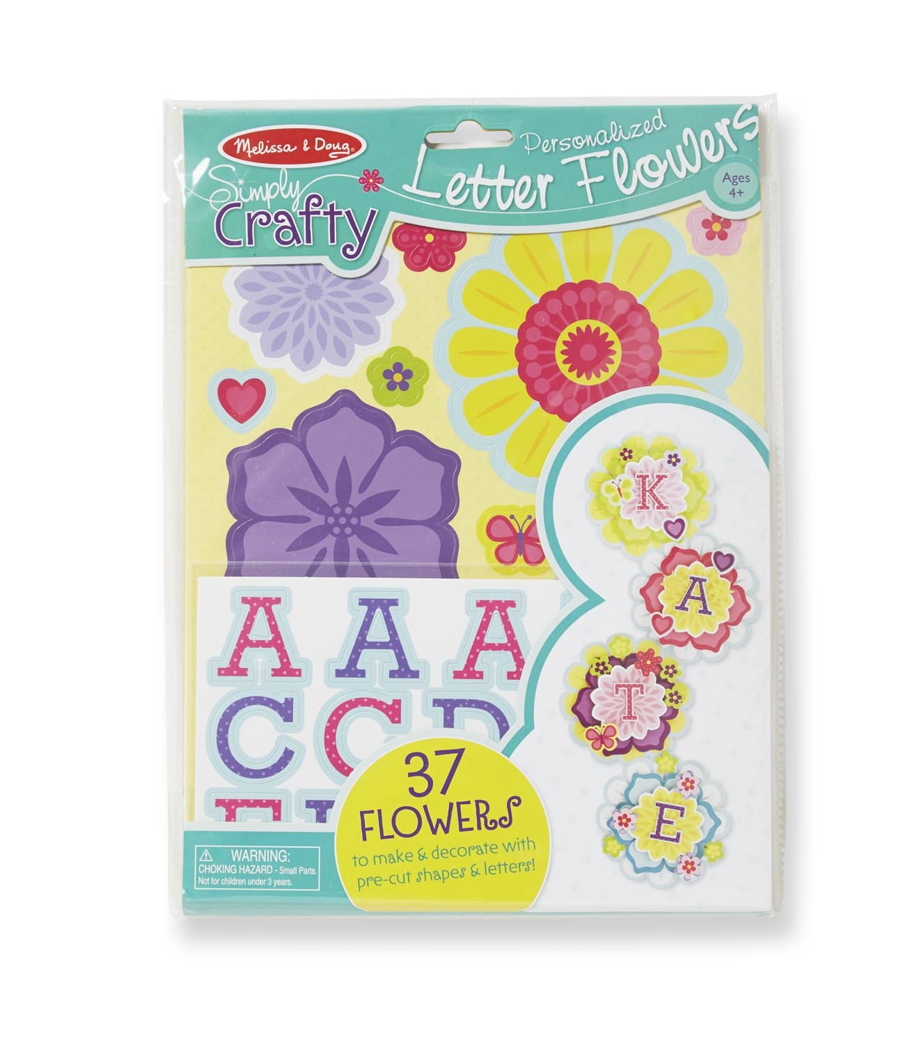 37-Pce. Pack Melissa & Doug Simply Crafty Personalized Letter Flowers $2.98 - Amazon