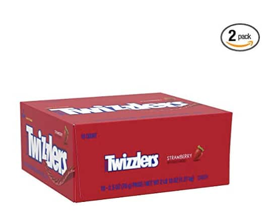 2-Boxes (36 Packs) Twizzlers Strawberry Twists (2.5 oz packs, 18 ct. ) $13.49 5% or $12.07 15% w/s&s