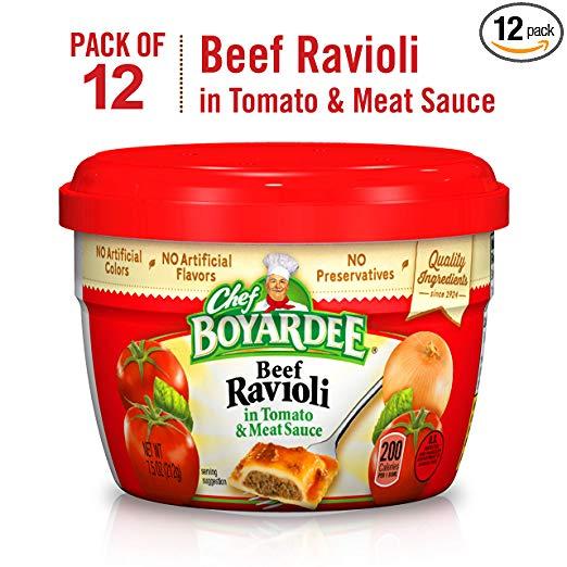 12-Ct. Chef Boyardee Beef Ravioli, 7.5-Ounce Microwavable Bowls $9.11 5% or $8.15 15% w/s&s