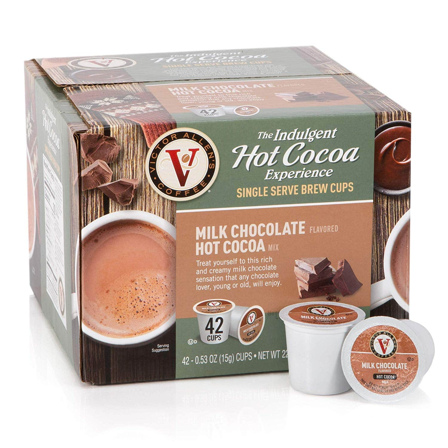 42-Ct. Victor Allen Coffee - (Milk Chocolate) Hot Cocoa Single Serve K-Cups $12.59 5% or $11.19 15% AC w/s&s