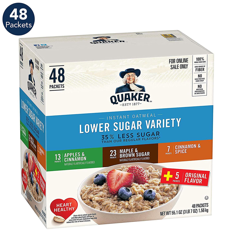 48-Count Quaker Lower Sugar Instant