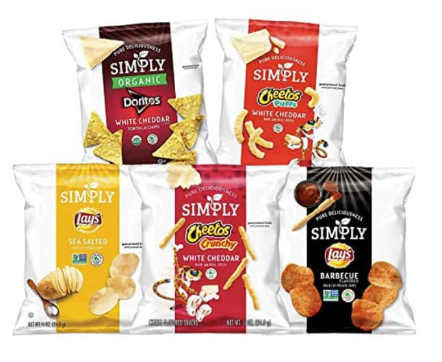 36-Count Simply Brand Organic Doritos Tortilla Chips, Cheetos Puffs $10.39 5% or $8.79 15% AC w/s&s