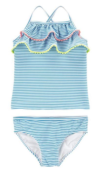 Carter's Girls' Two-Piece Swimsuit (Blue Pom) (Sizes 2T - 14) $6.36 - Amazon
