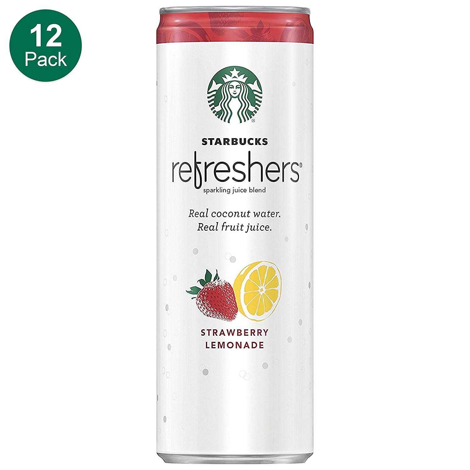 12-Pack 12oz. Starbucks Refreshers Sparkling Juice (Strawberry Lemonade) $10.62 5% or $8.51 15%