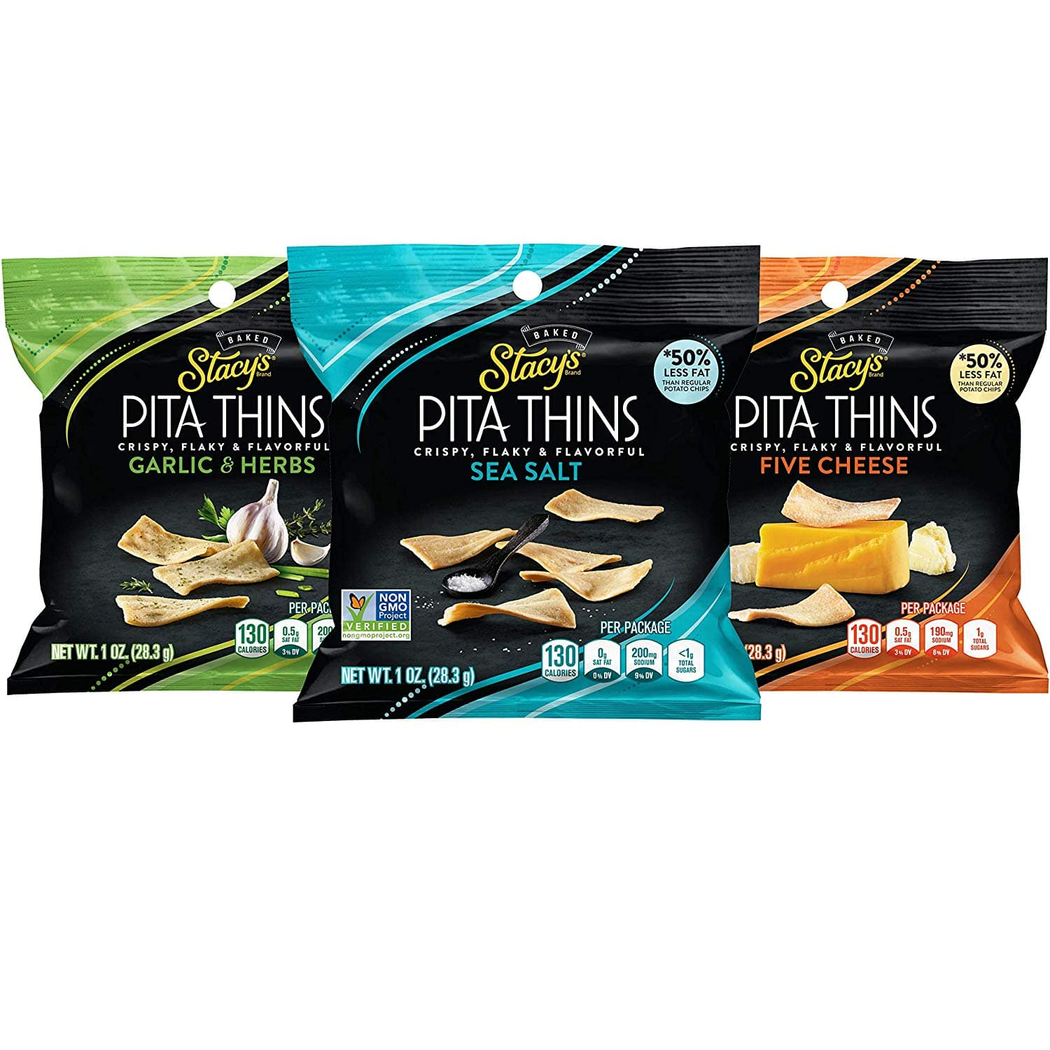 24-Ct. Stacy's Pita Thins (Variety Pack) $9.34 5% or $8.04 15% & More AC w/s&s