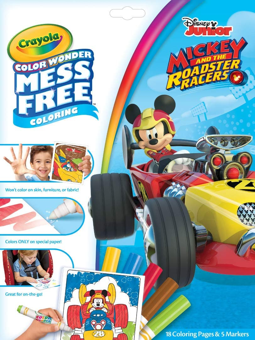 Crayola Color Wonder Mickey Mouse Roadsters Coloring Book Pages & Markers Set $4.00 - Amazon