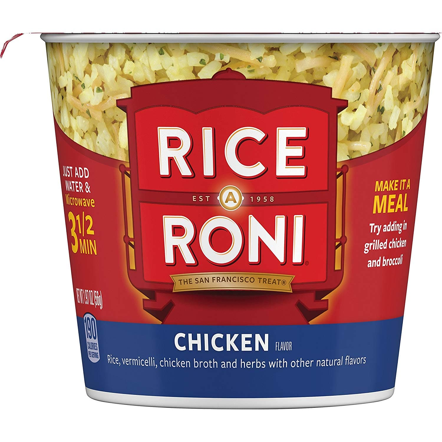 12-Pack of 2oz. Rice a Roni Cups: Chicken $9.03 5% or $7.90 15% AC w/s&s + Free S/H