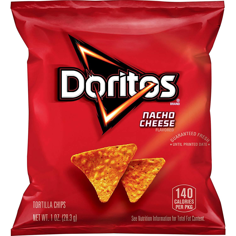40-Ct. Doritos Nacho Cheese Flavored Tortilla Chips, 1 oz $7.80% or $6.60 15% AC w/s&s