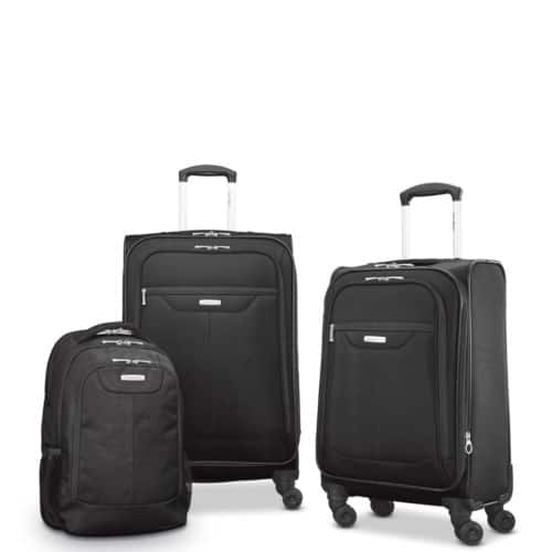 3-Piece Samsonite Tenacity Spinner Luggage Set (Black) $89.99 + Free Shipping