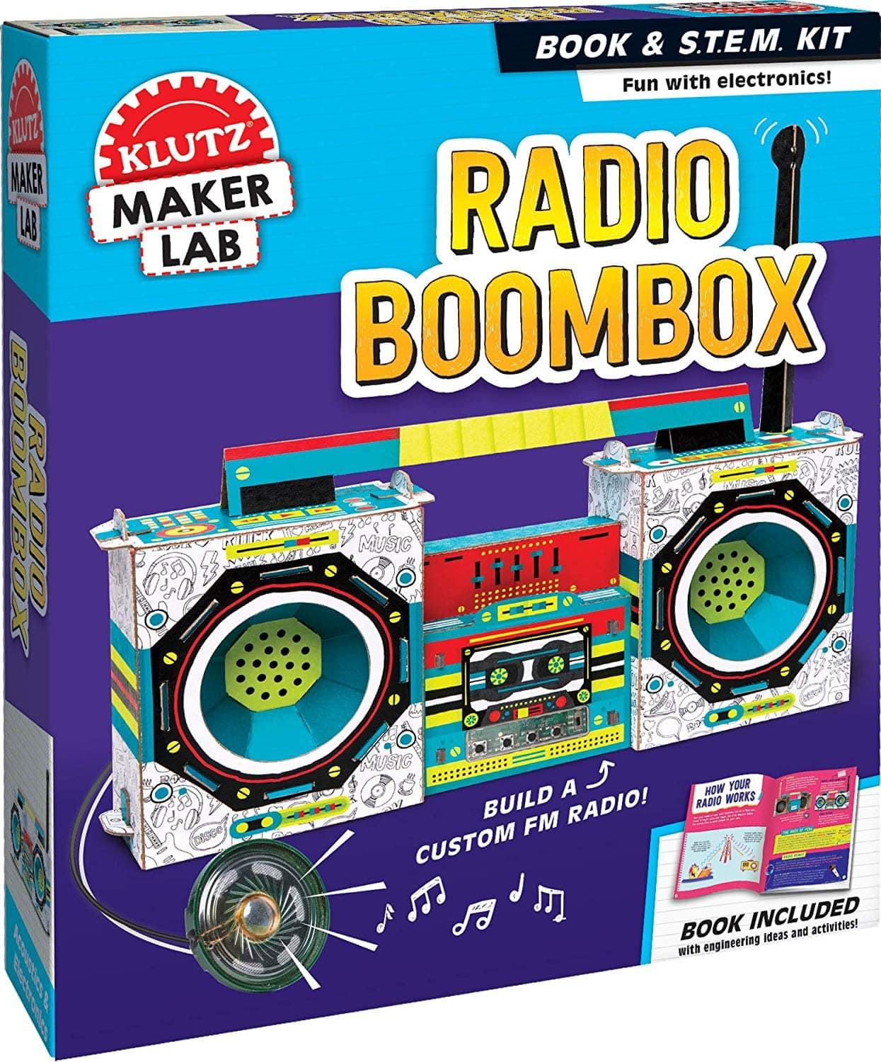 KLUTZ Maker Lab Radio Boombox $8.33 - Amazon