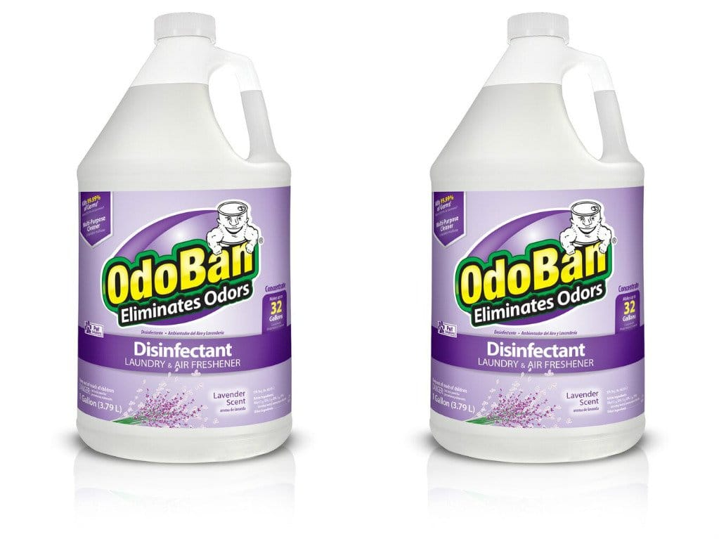 2-Gallons OdoBan Multipurpose Cleaner Concentrate (Lavender Scent) Odor Eliminator, Disinfectant $11.93 - Amazon