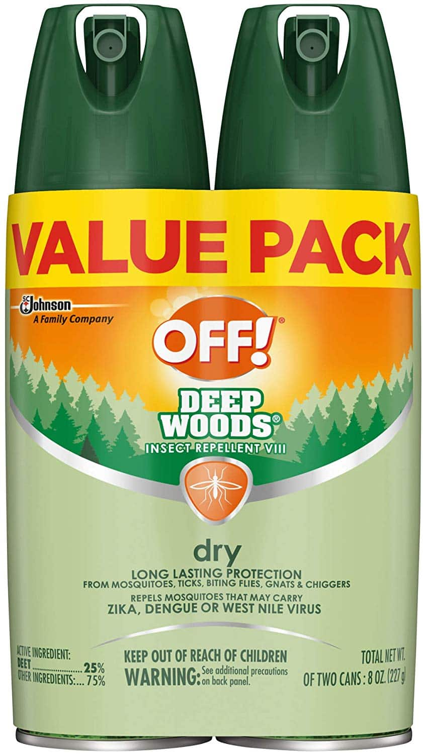 2-Ct. 4oz. Cans OFF! Deep Woods Insect Repellent VIII Dry $7.59 5% or $6.79 15% - Amazon