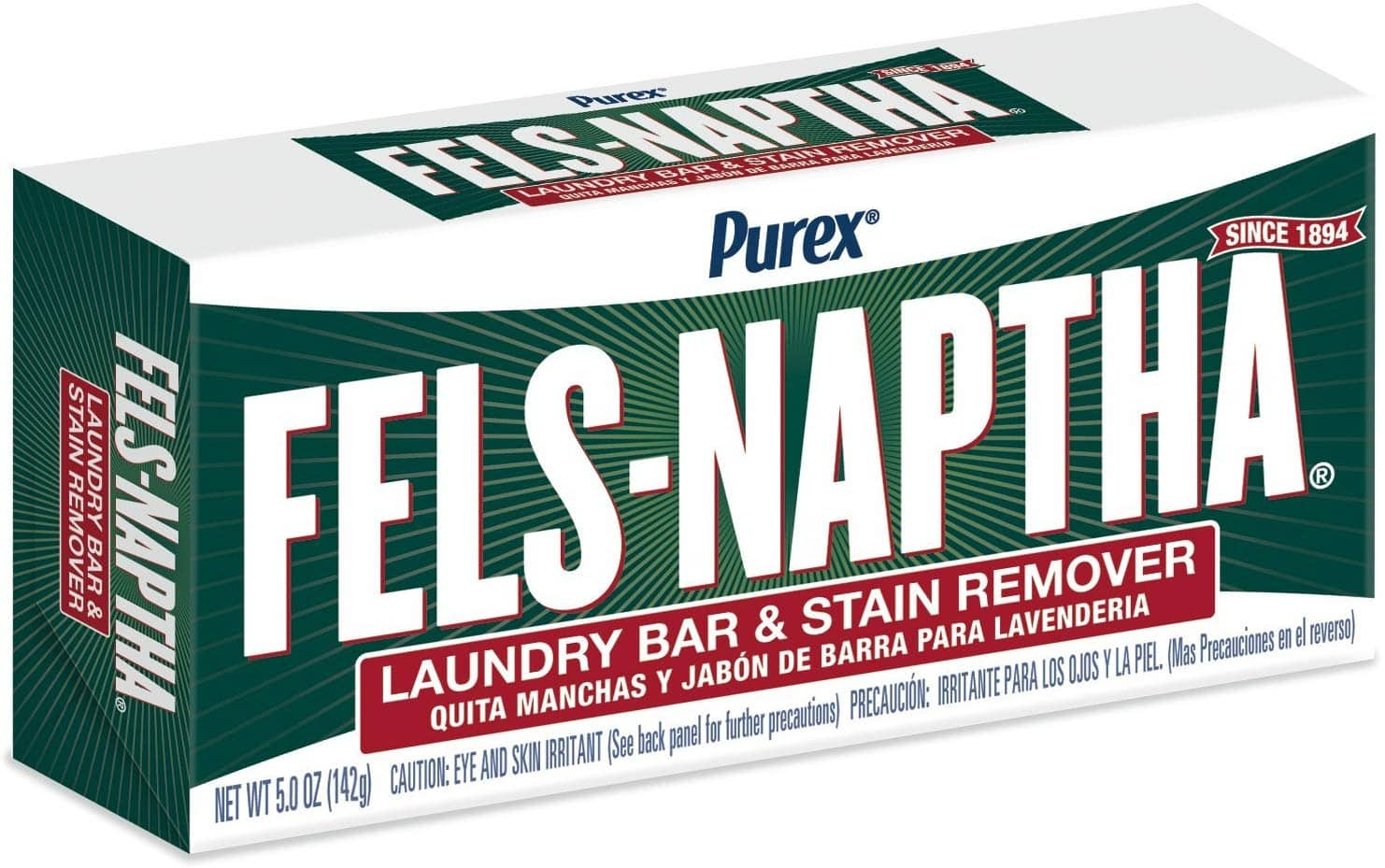 2 Bars - 5 oz Fels-Naptha Laundry Bar and Stain Remover $2.25 5% or $1.59 15%