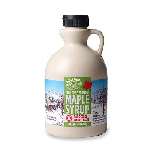 1-Quart Butternut Mountain Farm 100% Pure Maple Syrup (Amber Rich or Dark Robust) $14.19 5% or $12.69 15% w/SS