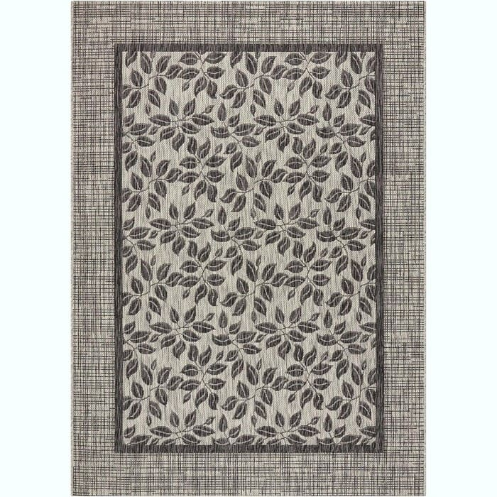 """Nourison Garden Party (Ivory Charcoal) Indoor/Outdoor Area Rug 5'3""""x7'3"""" $44.74 w/Target Red Card - Free Shipping"""