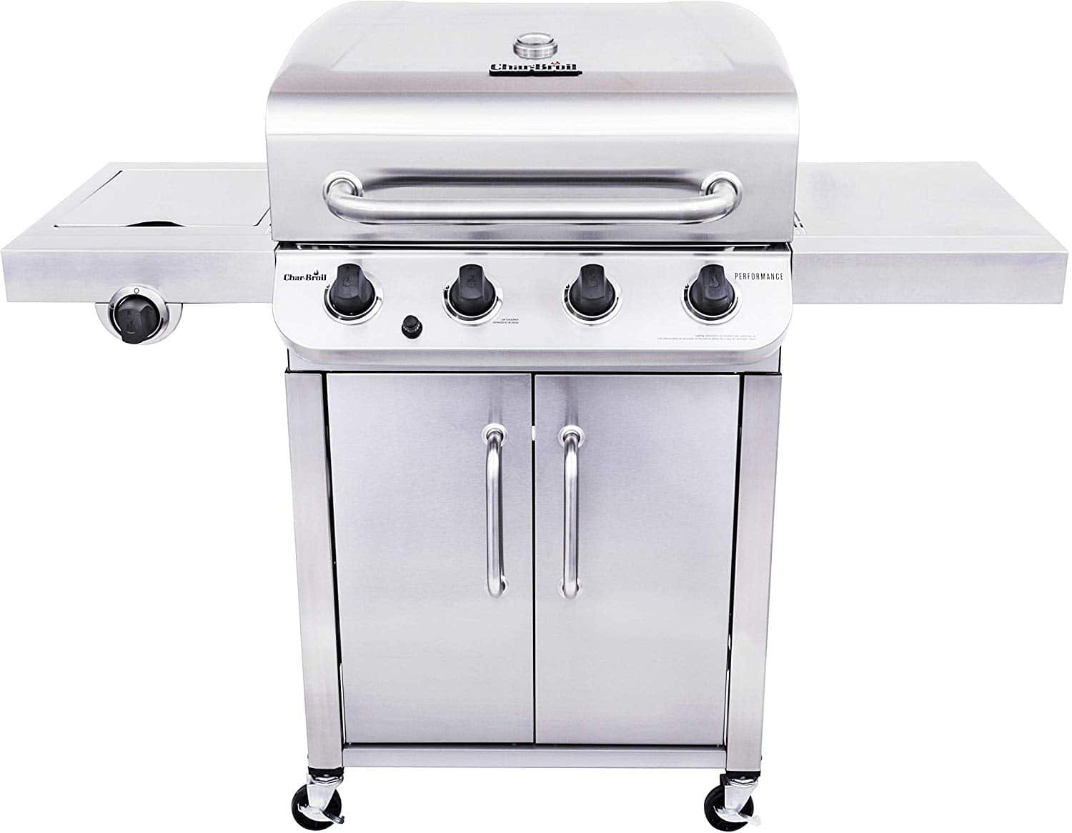 Char-Broil 463375919 Performance Stainless Steel 4-Burner Cabinet Style Gas Grill $279.99 - Amazon