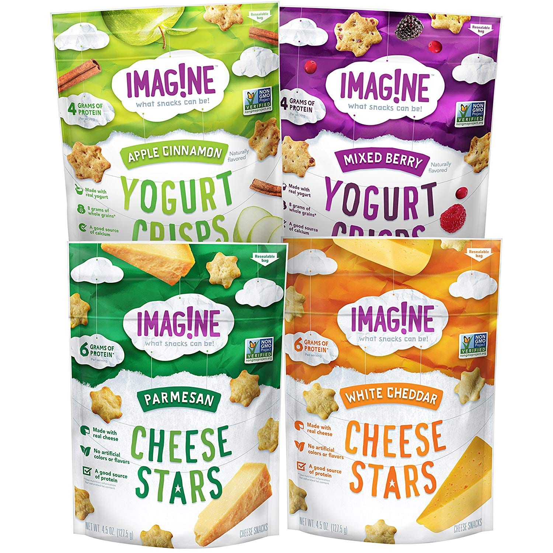 4-Ct. - 4.5oz. Imag!ne Cheese Stars and Yogurt Crisps Sampler (Variety Pack) $9.78 5% or $8.38 15% AC w/s&s