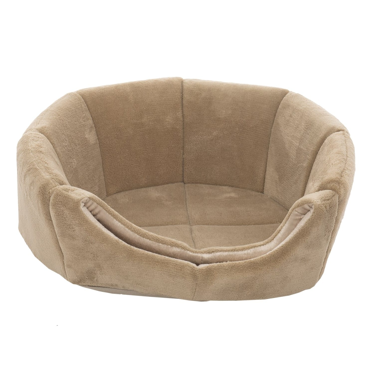 "Precious Tails Tan Coral Fleece ""2-In-1"" Pet Dome Bed - 18x18x13""  $5.00 + Free Shipping"