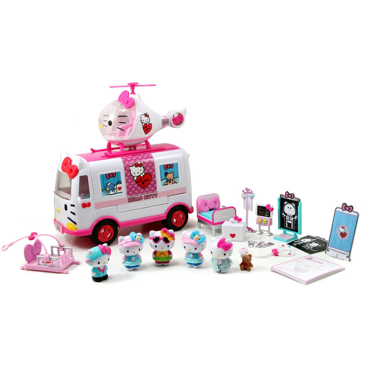Hello Kitty Rescue Set (Helicopter & Ambulance Playset, Figures & Accessories) $19.99 - Walmart / Amazon
