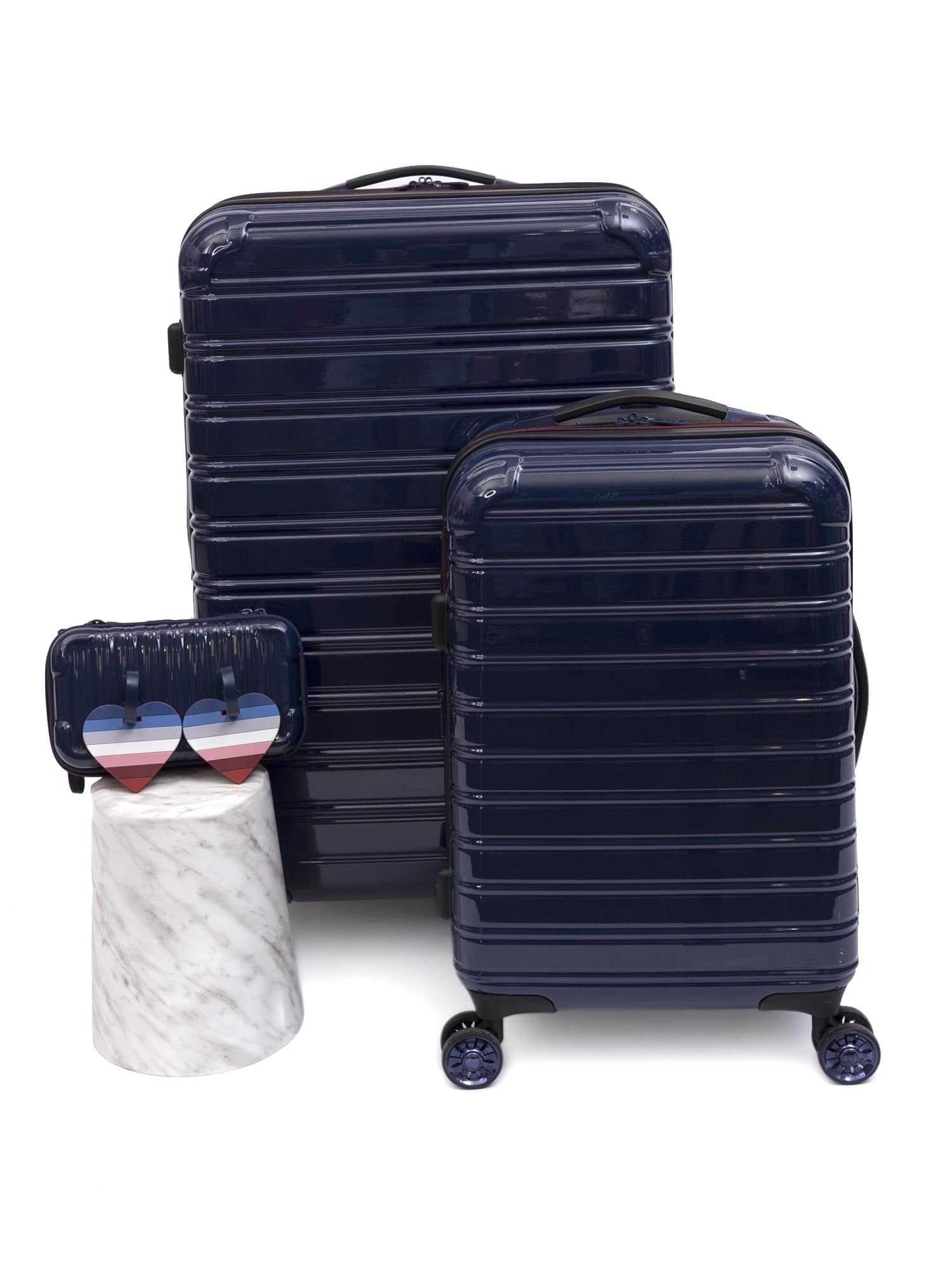 3-Piece Set - EV1 x iFLY Hardside Fibertech Luggage with Heart-Shaped Luggage Tags $129.99 - Walmart +Free Ship