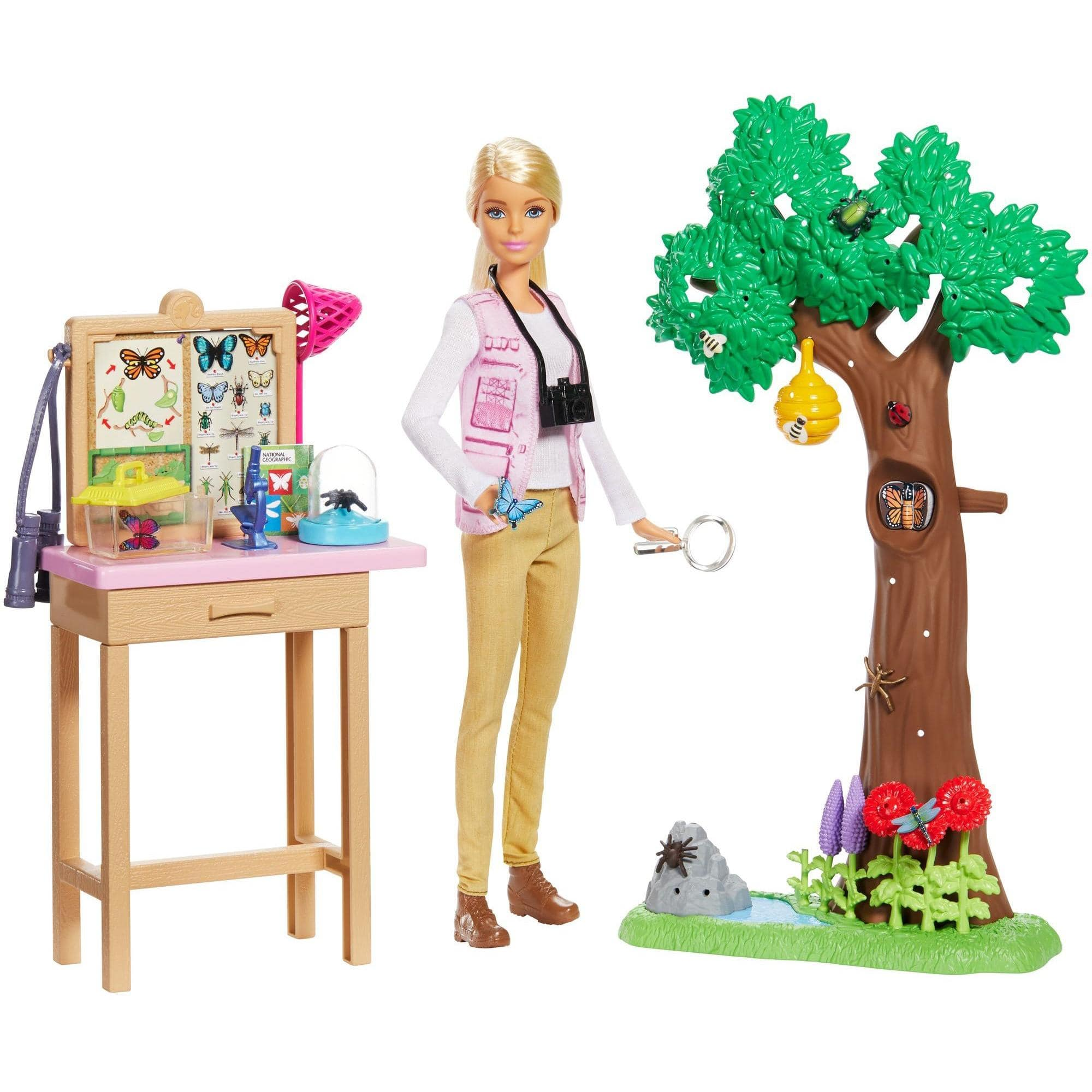 Barbie National Geographic Entomologist Doll and Themed Playset $13.10 + Free Store Pickup