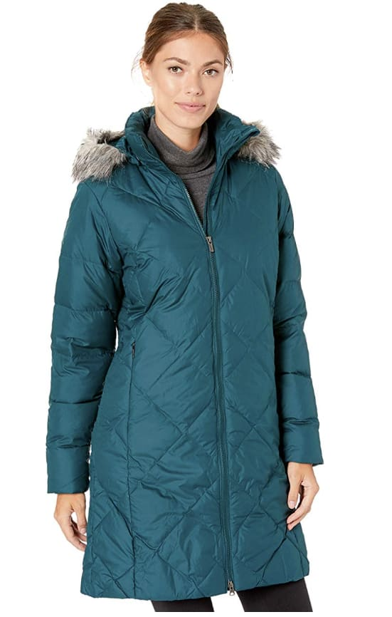 Columbia Women's Mid Length Down Jacket (L, 1X, 3X) - Dark Seas $66.00 - Amazon
