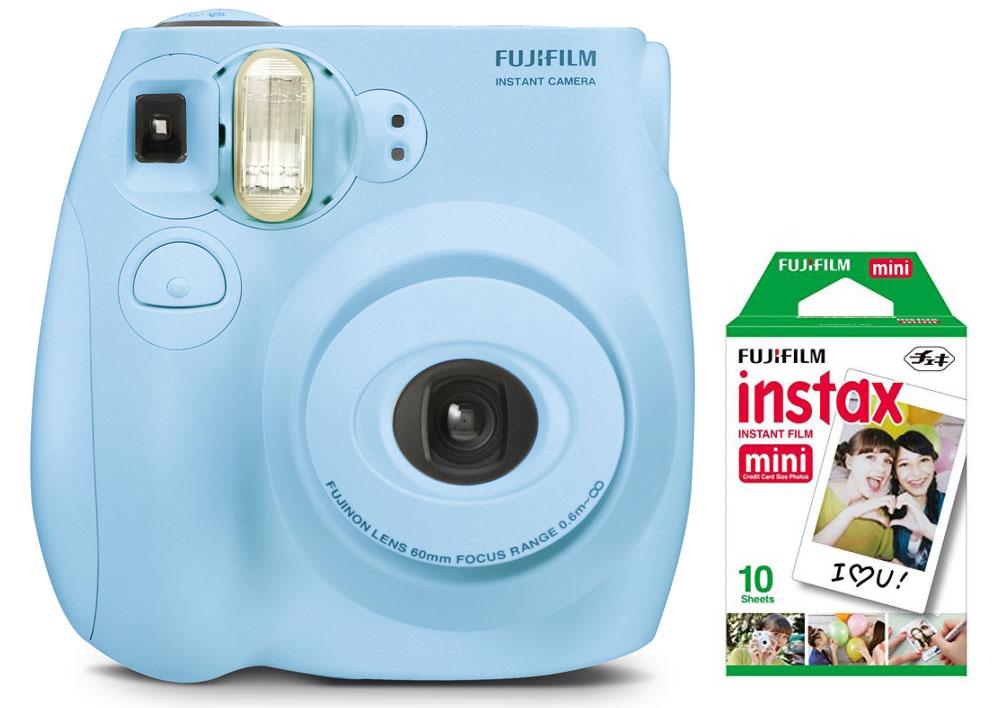 Fujifilm Instax Mini 7S Instant Camera w/ 10pk Film (Various Colors) $49 - Walmart