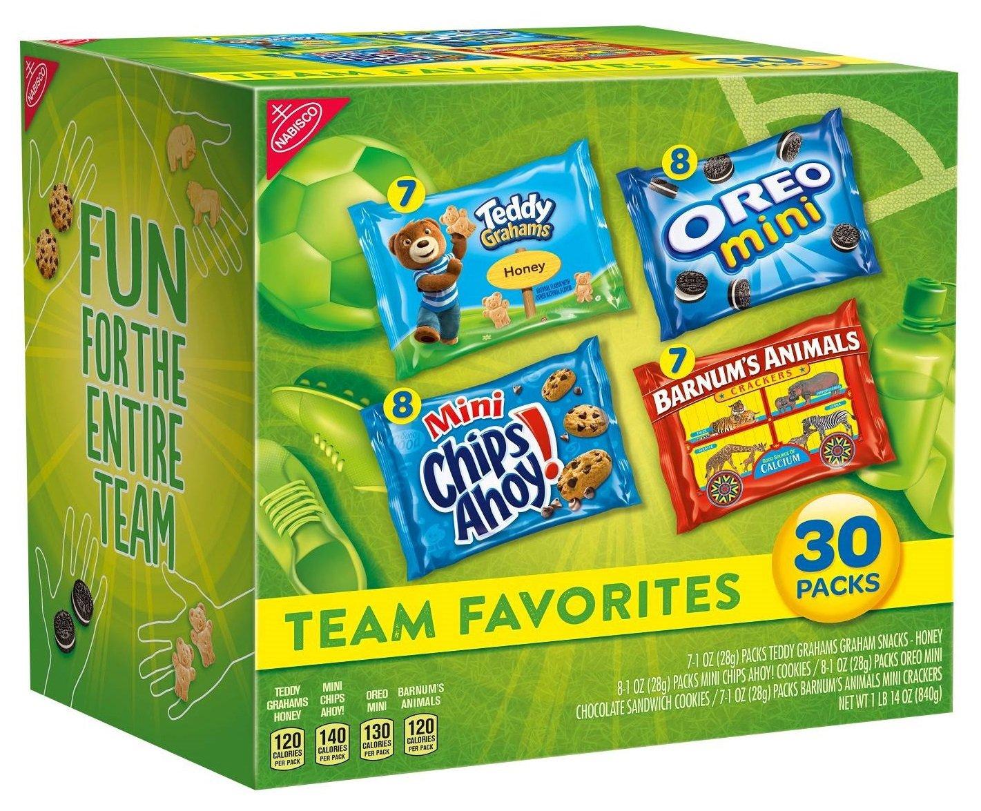 30-Pack Nabisco Team Favorites Cookies & Crackers Variety Pack $6.00 5% or $5.37 15% w/s&s & MORE