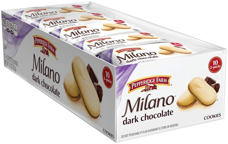 10-Pk Pepperidge Farm Milano Cookies (Dark Chocolate) $3.91 AC or $3.69 5% w/s&s