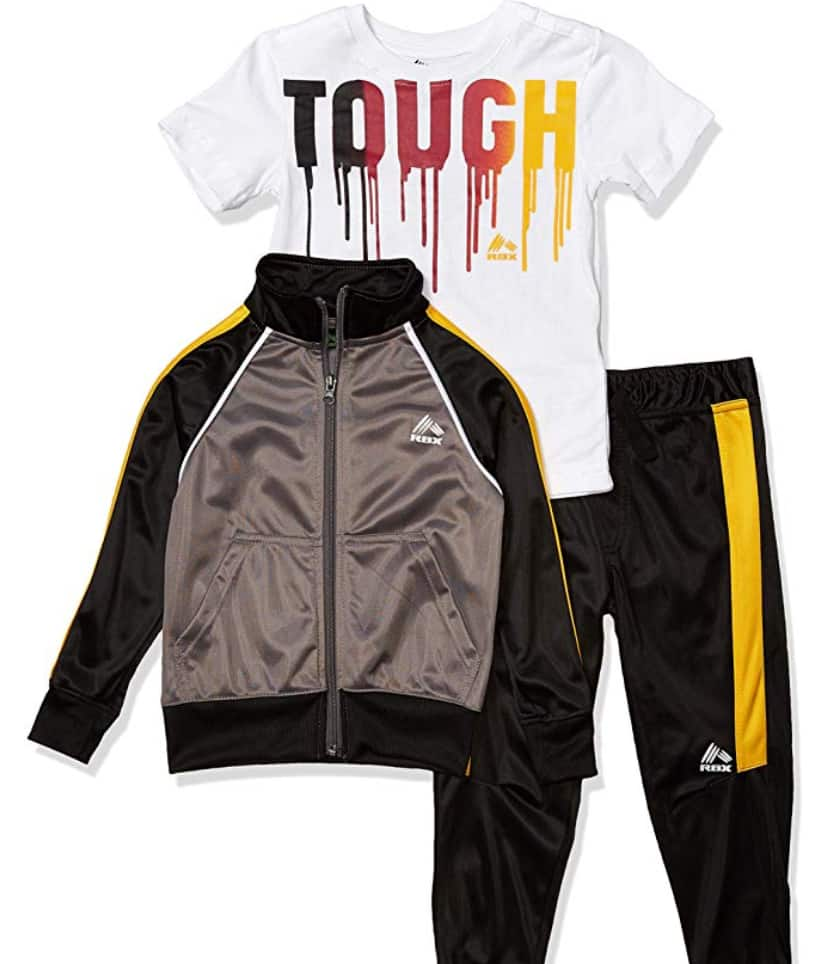 3-Pce. Set RBX Boys' Jacket, Tee and Pant Sets (Limited Sizes) $9.00 - Amazon
