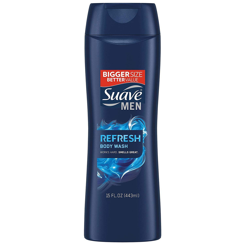 15oz. Suave Men Body Wash (Refresh) $1.79 5% or $1.60 15% w/s&s ($1 Digital Credit)